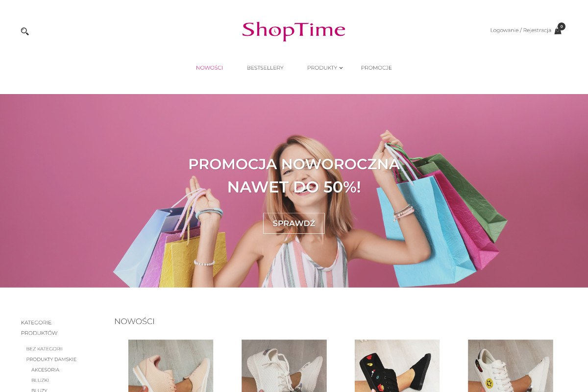 ecommerce website for clothing shop